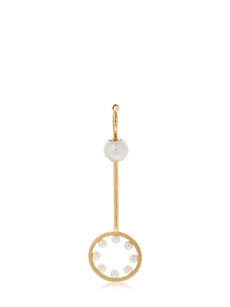 DELFINA DELETTREZ Twins Hoop Soap Bubble Mono Earring in gold