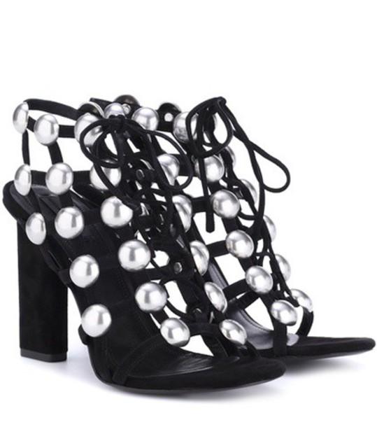 Alexander Wang embellished sandals suede black shoes
