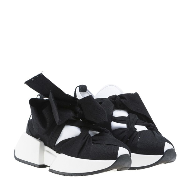 Mm6 Maison Margiela bow sneakers white black shoes