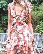 dress,nouveau riche boutique,floral,floral dress,flowers,summers,spring,spring outfits,orange,melon,blogger,summer dress,australian brand,kirsty fleming