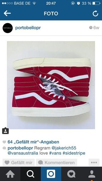 shoes red sidestripe knöchelhoch