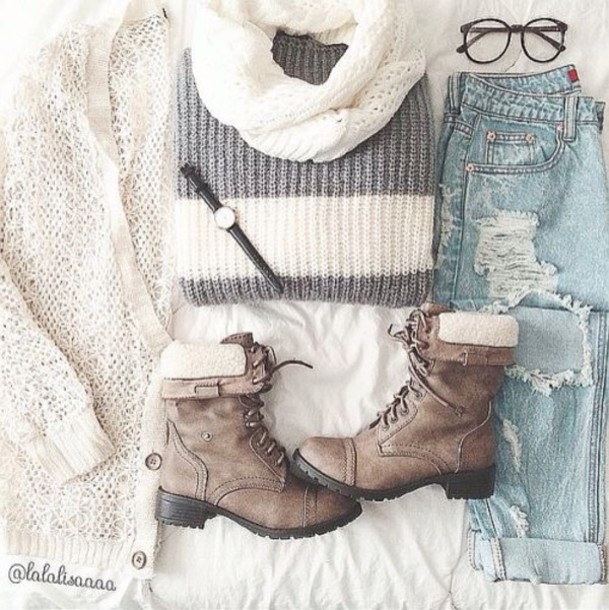 dress sweater winter outfits tumblr cute boots shoes