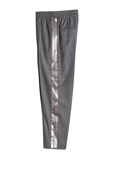 Brunello Cucinelli Virgin Wool Pants with Satin  in grey