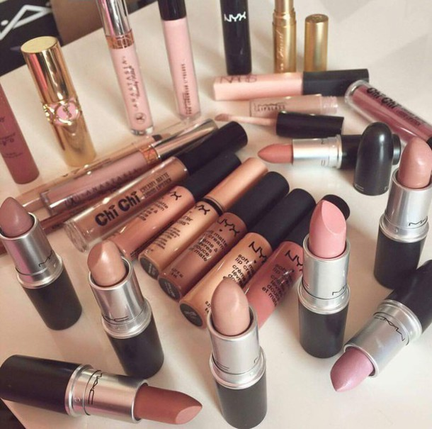 make-up nyxcosmetics nyx nude party make up beige creme lipstick lip gloss lips red lipstick red pink black face aliexpress lipgloss tube girl contouring highlighter face makeup