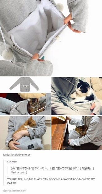 sweater jacket style cats hoodie