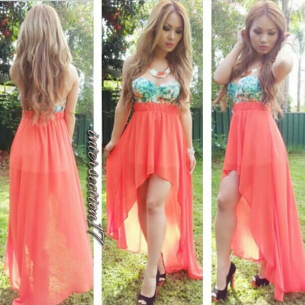shirt pink high low skirt bralet crop tops dress