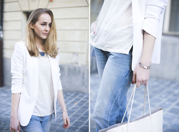 tiphaine's diary jacket t-shirt jeans shoes jewels bag
