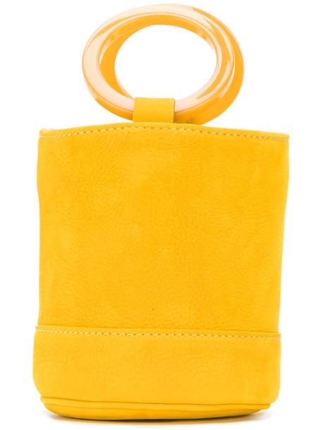 Simon Miller mini women bag bucket bag leather yellow orange