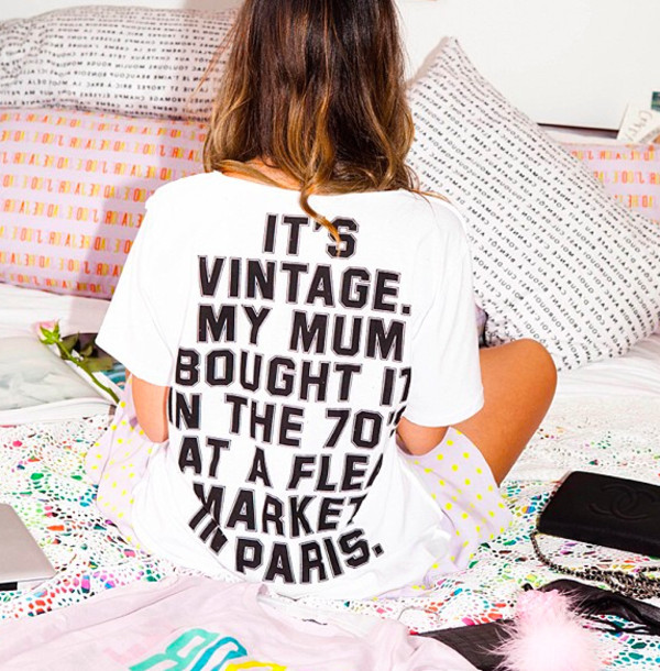 t-shirt t-shirt message message tshirt tee shirt message shirt white vintage paris mum
