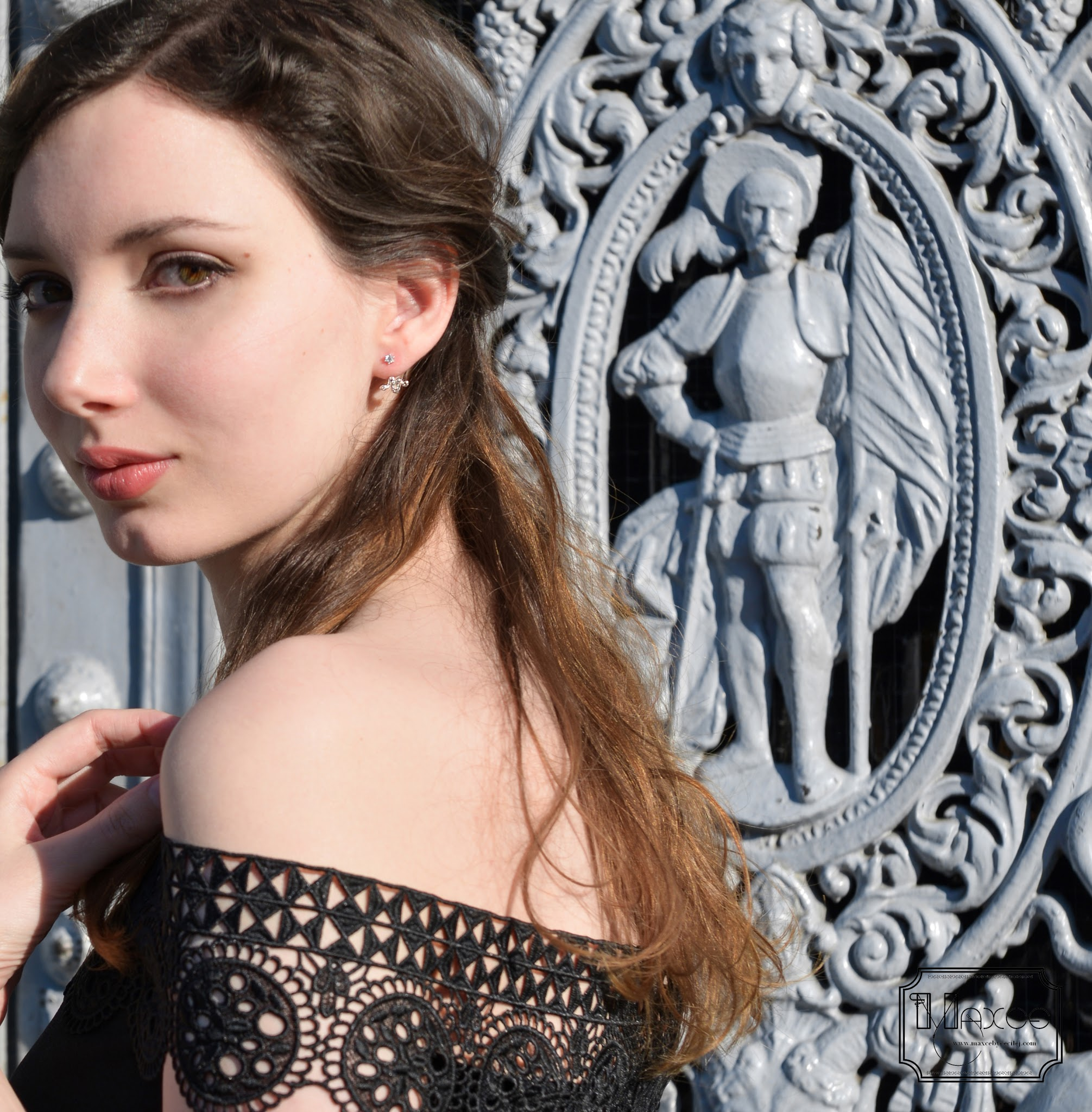 MAXCE: DIY: Off shoulders lace top