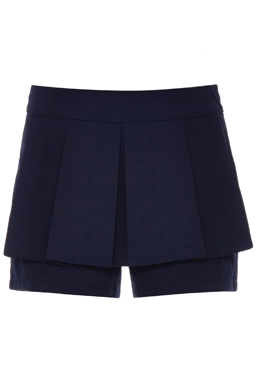 ROMWE | Zippered Pocketed Black Pleated Culottes, The Latest Street Fashion