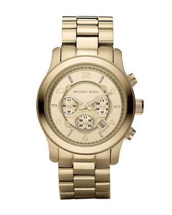 Michael Kors Golden Oversized Runway Watch - Michael Kors