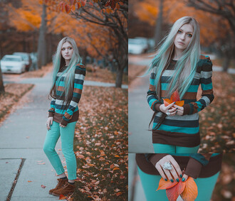 sweater pullover striped sweater striped shirt casual brown fall outfits fall colors