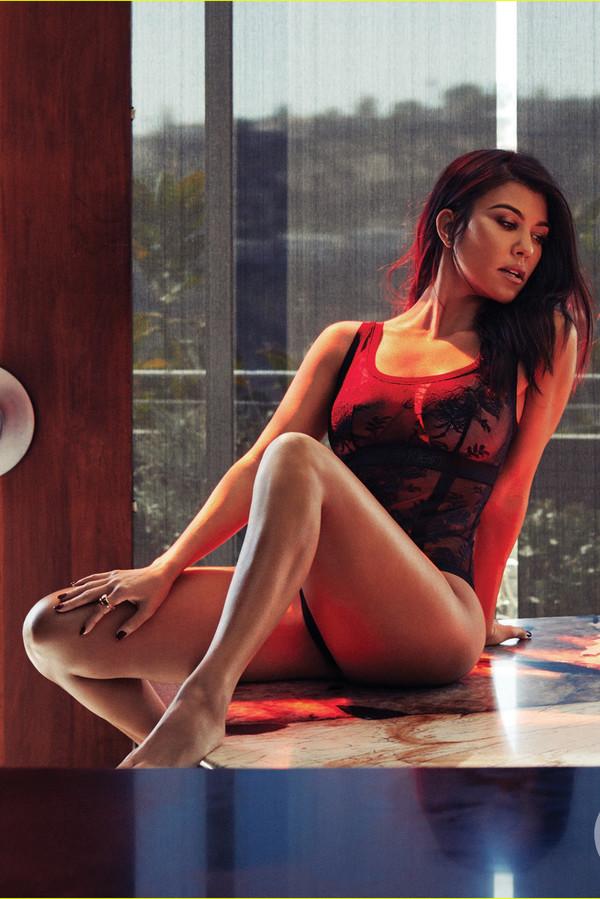 swimwear kourtney kardashian kardashians bodysuit lace lace lingerie editorial celebrity