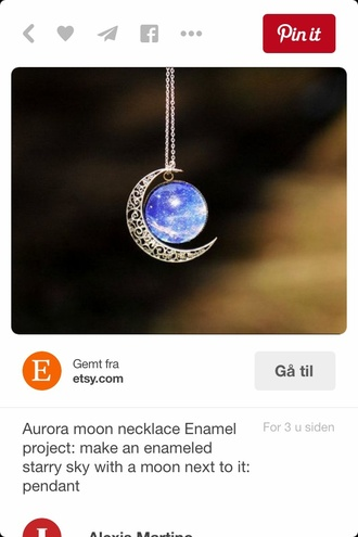 jewels moon hipster boheme silver blue moon jewelry moon necklace hipster jewelry