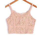 top,lace,fashion,style,cute,summer,spring,girly,light pink,crop tops,rosewholesale.com,lace crop top