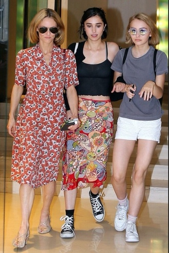 skirt cute vintage 90s style lily rose depp