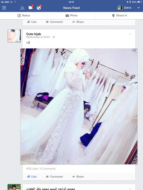 dress white wedding dress hijab