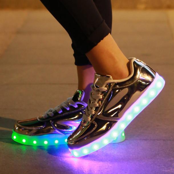 Blouse Shoes Led Shoes Silver Led Shoes Light Up Shoes