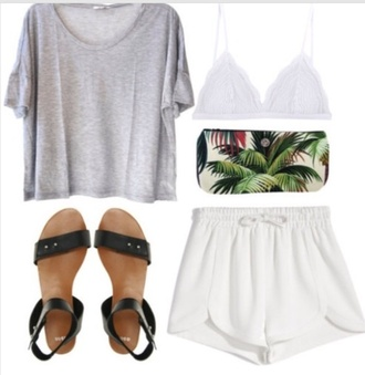 shoes boho indie shorts underwear bag shirt sandals white bralette lace bralette lace bra