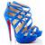 Balota 150mm Suede Sandals Blue Christian Louboutin Sale USA