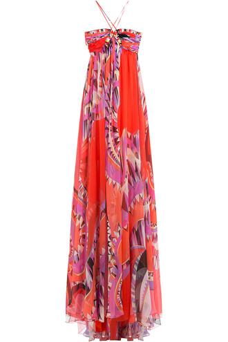 dress maxi dress maxi silk multicolor
