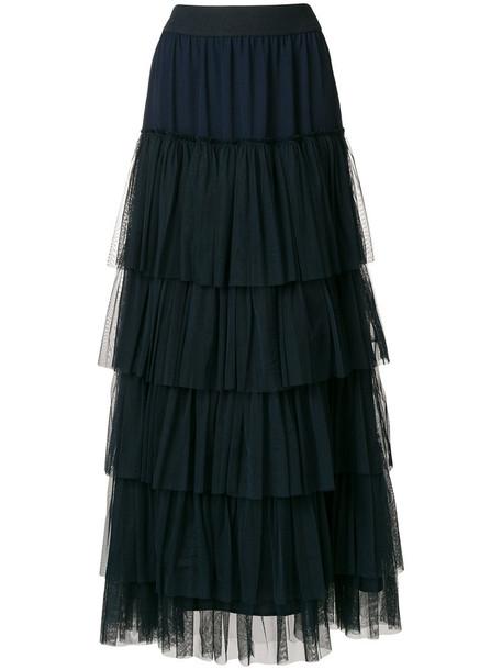 skirt long women blue