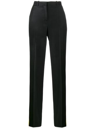 women black silk wool pants