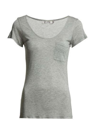 French Connection Classic Marl Luxe S/s V Nk Tee (Grey Hanger) - Køb og shop online hos Boozt.com