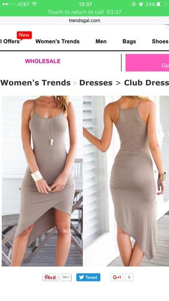 dress nude dress asymmetrical