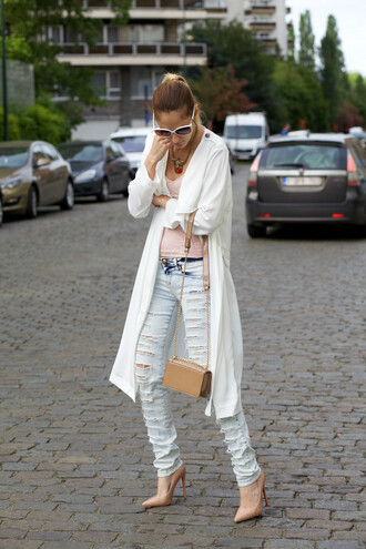 from brussels with love blogger coat top jeans bag shoes shorts