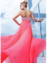 Buy Stylish A-line Sweetheart Empire Waist Floor Length Prom Dress under 300-SinoAnt.com