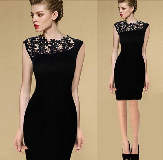 Aliexpress.com : buy s xxl new 2014 summer slimming sexy lace sleeveless stitching pencil dress women casual bodycon evening dress plus size from reliable dress shield suppliers on hexin's store