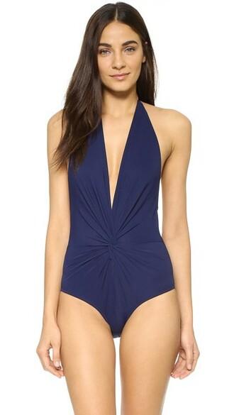 back navy swimwear