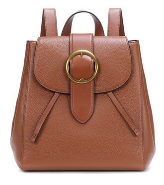 backpack leather backpack leather brown bag
