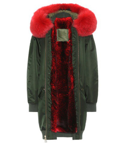 Mr & Mrs Italy coat long fur green