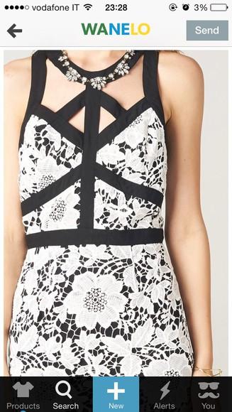 dress lace dress white dress cut out dress