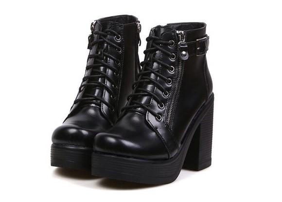 shoes high heels platform shoes chunky