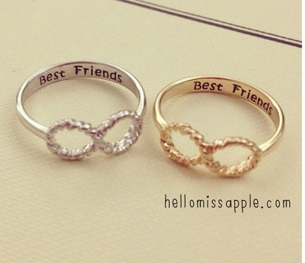 jewels fashion bff love ring jewelry ring gold ring best friends infinity ring infinity infinity ring bff