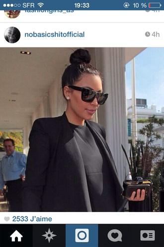 sunglasses kim kardashian blouse jacket