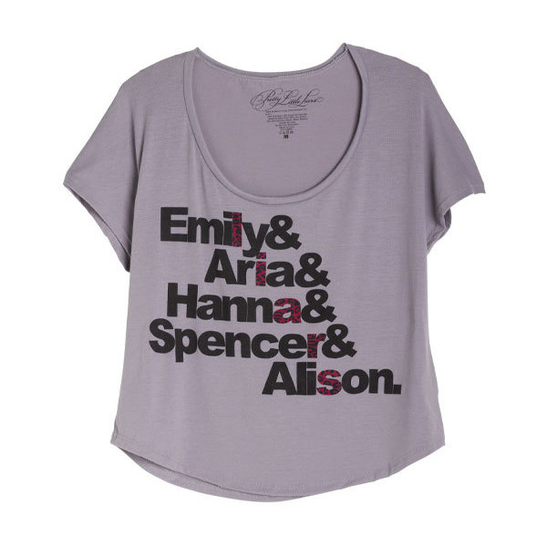 Pretty Little Liar Names Tee - Polyvore