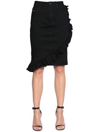 skirt denim skirt denim cotton black
