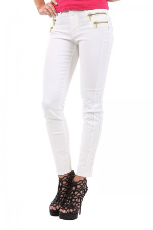 Only Women's Jeans Olivia Regular Zip Ankle Leggings 15074979 White,