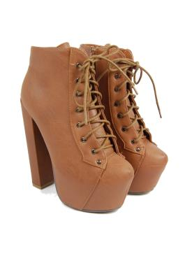 Buy tan platform boot by amba for £34.99 from high street jacker