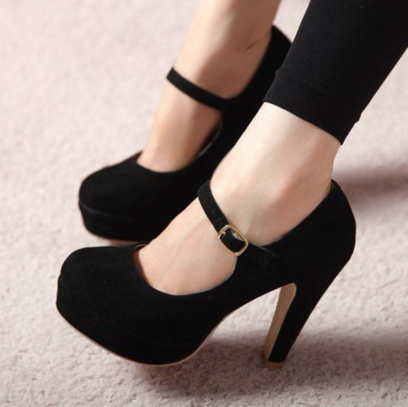 mary jane shoes high heels black beautiful mary jane
