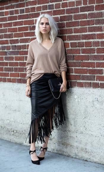blogger bag fringes jewels always judging jumper fall outfits