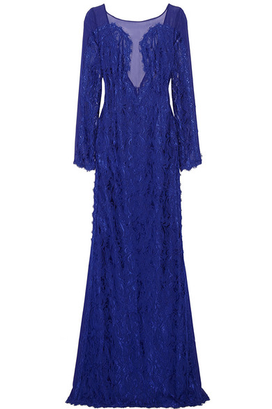 Emilio Pucci | Guipure lace and chiffon gown | NET-A-PORTER.COM