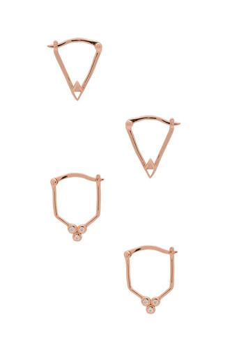 gold metallic copper jewels