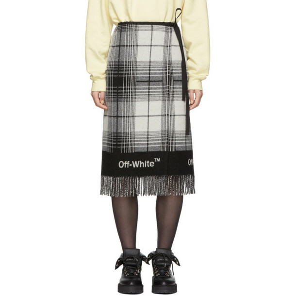 Off-White Black & White Check Blanket Skirt