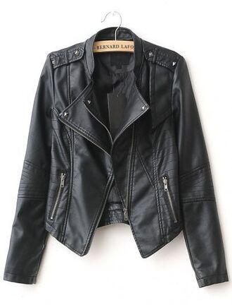 jacket leather jacket leather black black leather biker cute cute jacket black jacket biker jacket black leather jacket fashion style